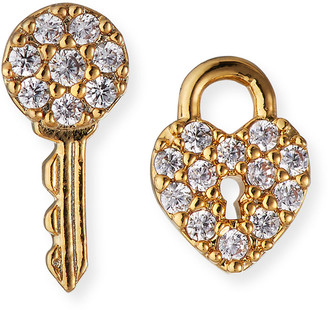 Tai Lock and Key Post Earrings