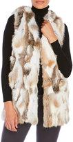 Surell Long Real Rabbit Fur Vest