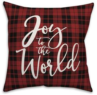 """KNOTT The Holiday Aisle Joy to the World Throw Pillow The Holiday Aisle Size: 20"""" x 20"""""""