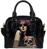 Angelinana Custom Women's Handbag Day of the Dead Sugar Skull Girl Fashion Shoulder Bag