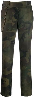 Ermanno Scervino camouflage print trousers