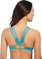 Roxy Women's Sunset Paradise Halter Crop Bikini Top