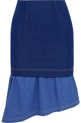 Paper London Hamilton Asymmetric Layered Cotton-blend Skirt
