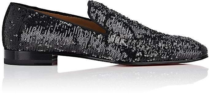 Christian Louboutin Men's Dandelion Sequined Slippers