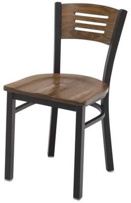 Kfi KFI Ladder Back Metal Cafe Chair, Walnut