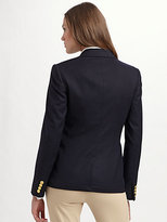 Ralph Lauren Blue Label Custom Wool Crested Blazer