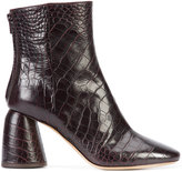 Ellery crocodile effect boots
