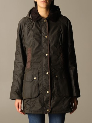 Barbour Buttoned Jacket With Maxi Hood