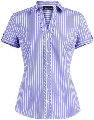 New York & Co. Short-Sleeve Madison Stretch Shirt - Secret Snap - 7th Avenue