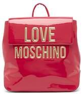 Love Moschino Logo Patent Backpack