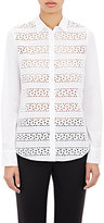 Barneys New York Women's Eyelet Shirt-WHITE