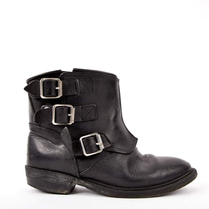Golden Goose Leather buckled boots