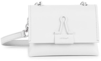 Off-White Small Binder Clip Leather Crossbody Bag
