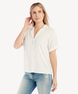 Sole Society The Good Jane Women's Tina Short Slv Top In Color: White Size XS From