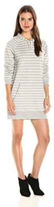 American Apparel Women's Striped French Terry Hoodie Dress