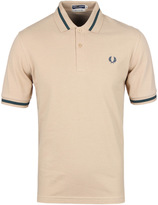 Fred Perry Re-issues Biscuit & Emerald Tipped Pique Polo Shirt