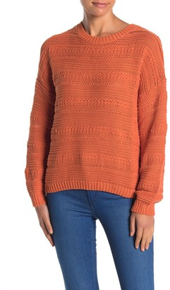 Lush Crew Neck Pullover Sweater