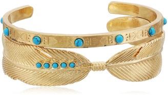 Danielle Nicole Pueblo Turquoise Cuff Bracelet