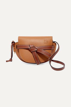Loewe Gate Mini Textured-leather Shoulder Bag - Tan