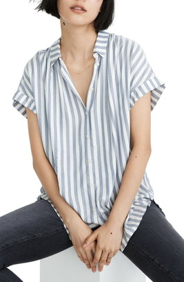 Madewell Bayside Stripe Central Drapey Shirt