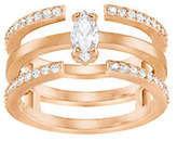 Swarovski Rose Goldplated Stackable-in-One Ring