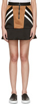 Neil Barrett Black Retro Modernist Peplum Miniskirt