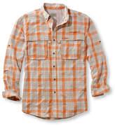 L.L. Bean Men's Tropicwear Shirt, Plaid Long-Sleeve