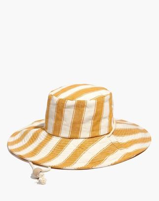 Madewell Striped Linen-Cotton Oversized Sunhat