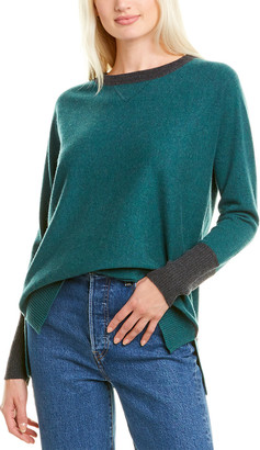 Forte Cashmere Hi-Low Cashmere Sweater