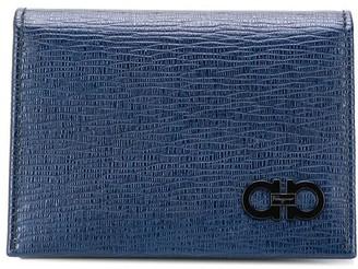 Salvatore Ferragamo Gancini logo cardholder wallet