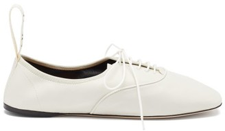 Loewe Logo-tab Leather Oxford Shoes - White