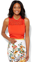 New York & Co. Lace-Top Shell