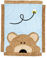 Boogie Baby Peek-a-Boo Bear Baby Blanket, Blue
