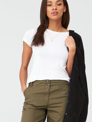 Very Longer Length Poplin Short - Khaki