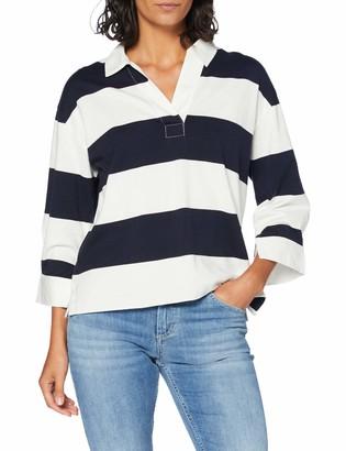 Gant Women's D1. Feminine Striped Heavy Rugger Polo Shirt