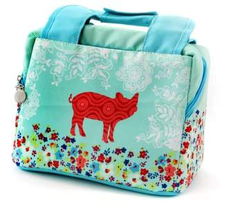 Urban Market Life on the Farm 10.25 Inch Polyester Pig Design Lunch Bag