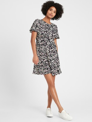 Banana Republic Petite Flutter-Sleeve Mini Dress