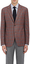 Barneys New York MEN'S CHECKED WOOL-SILK TWO-BUTTON SPORTCOAT