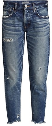 Moussy Kelley Distressed Tapered Jeans
