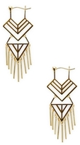 Noir Geometric Cut-Out Drop Earrings