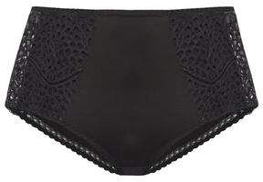 Maison Lejaby Wings Lace-paneled Jersey High-rise Briefs