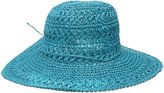Scala Women's Big Brim Crocheted Toyo Hat