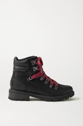 Sorel Lennox Hiker Waterproof Brushed-leather Ankle Boots - Black