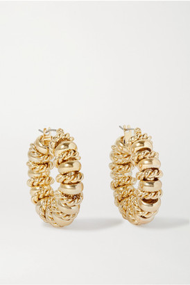 Laura Lombardi Net Sustain Serena Gold-plated Hoop Earrings
