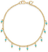 Thalia Sodi Gold-Tone Blue Stone Shaky Ankle Bracelet, Only at Macy's