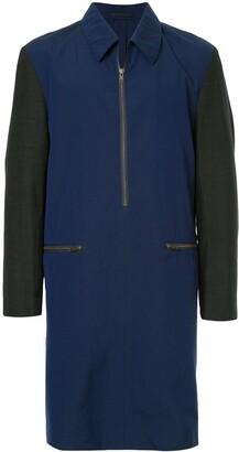 Comme des Garcons Pre Owned half-zip midi coat