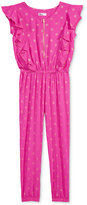 Epic Threads Flutter-Sleeve Jumpsuit, Big Girls (7-16), Only at Macy's