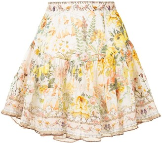 Camilla Gathered Panel Mini Skirt