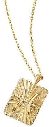 David Webb Zodiac 18K Yellow Gold Reversible Pisces Pendant Necklace