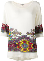 Etro abstract print loose-fit T-shirt - women - Spandex/Elastane/Viscose - 40